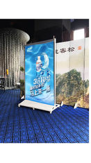 Floor Standing Transparent Glass Led Display  / Commercial Advertising Led Display Screen
