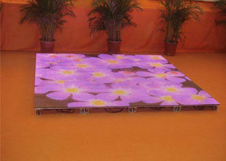 China interactive  Dance Floor LED Screen SMD2727 P6.25mm 25600dots/sqm Pixel Density supplier