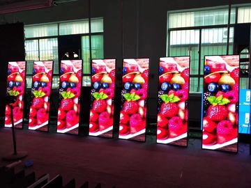 China Super Slim Poster LED Display Advertising Poster 800~1500 Nits Aluminum Cabinet Material supplier
