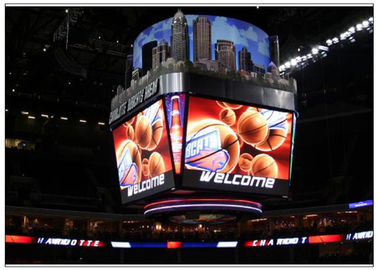 Cube Basketball Court / Sport Stadium LED Display 1R1G1B P6 Full Color