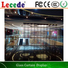 China Full Color Transparent Led Video Wall  for Buildings / Office Buildings company