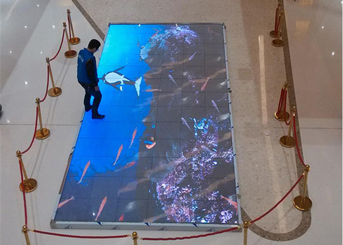 interactive  Dance Floor LED Screen SMD2727 P6.25mm 25600dots/sqm Pixel Density