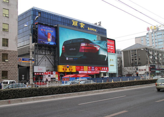 40000 Dots /㎡ Outdoor Digital Advertising Screens , Led Advertising Panel SMD2727