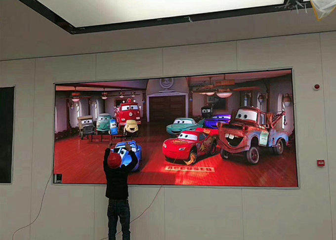 Square Indoor Full Color Outdoor Advertising Led Display 4mm 1200cd/㎡ 3840 Hz